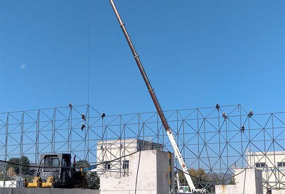 About steel structure space frame installation requirements