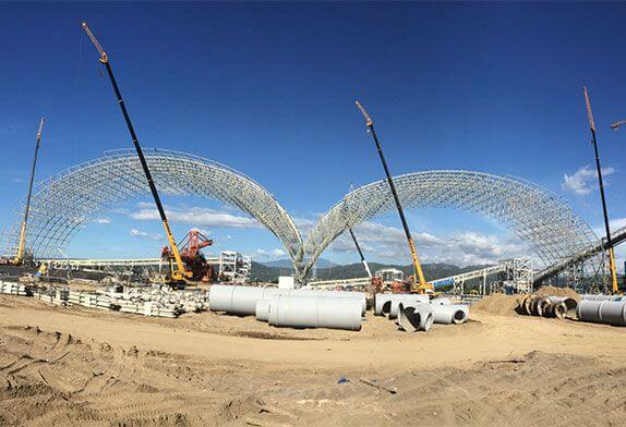 6 kinds of space frame installation methods commonly used by steel structure space frame installation companies
