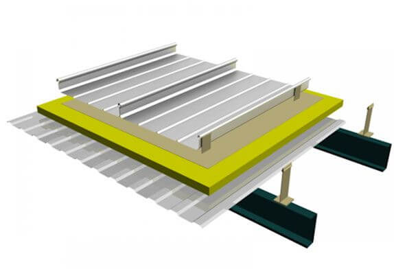 Wind resistance treatment of space frame structure aluminum-magnesium-manganese roof panel system