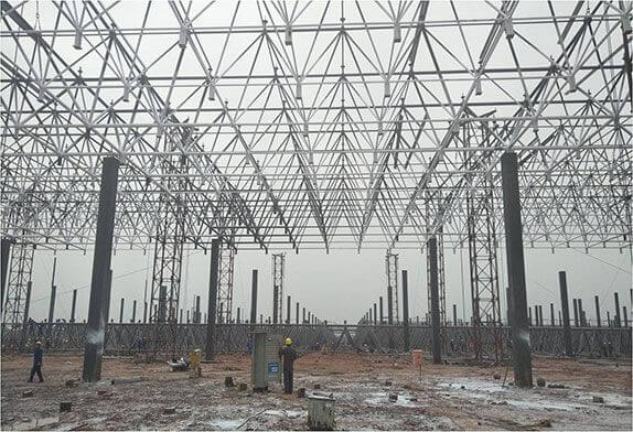 The connection form of the rigidity node of the engineering beam and column processed by the space frame