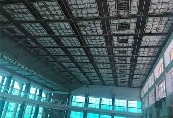 Attention should be paid to drainage problems in space frame construction design
