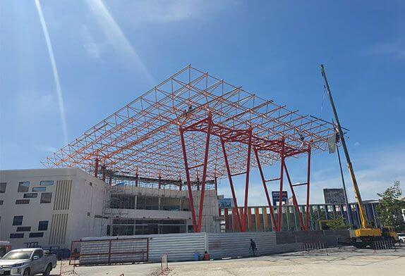 arge space frame processing plants explain which types of construction are mainly suitable for space frames