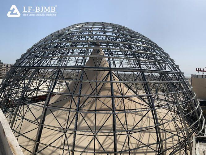 Spherical space frame construction analysis