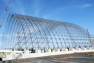 Application advantages of space frame structure in large-span roof engineering